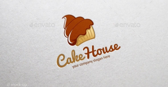 Cake House Logo Template