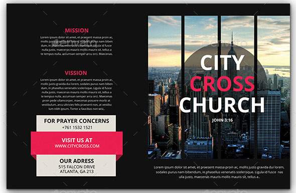 Modern Church Brochure