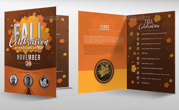 Fall Celebration Church Program Template