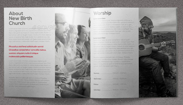 Core Values Church Brochure Template