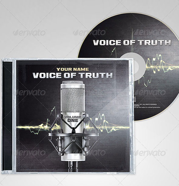 """Voice of Truth"" Christian Rap CD Cover and Disc"