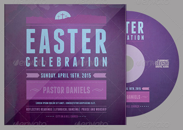 Easter Celebration CD Artwork Template