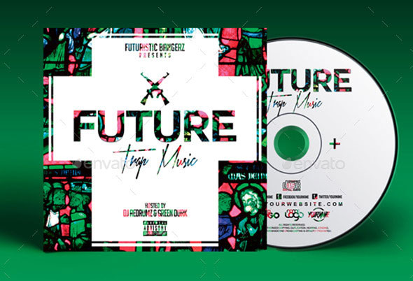 Future Trap Music | Mixtape Album Cover Template