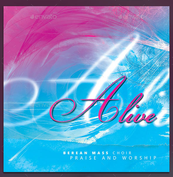 Alive: CD Cover Artwork Template