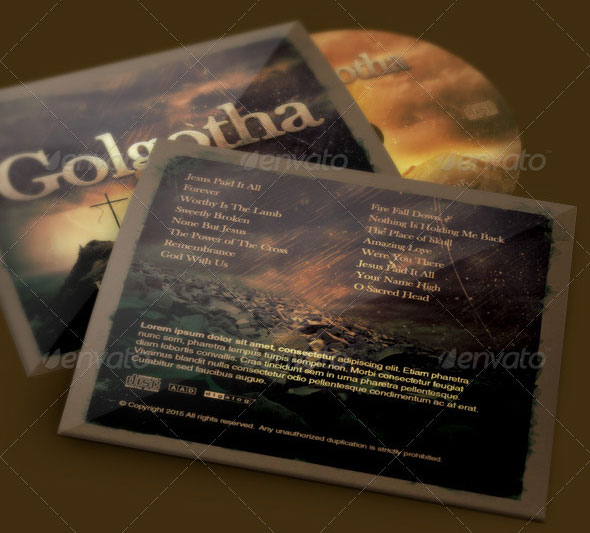 Golgotha Church CD Artwork Template