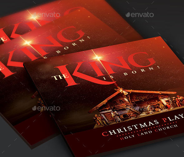 The King Is Born Christmas CD Artwork Template