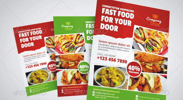 Fast Food / Restaurant Flyer Ad Template