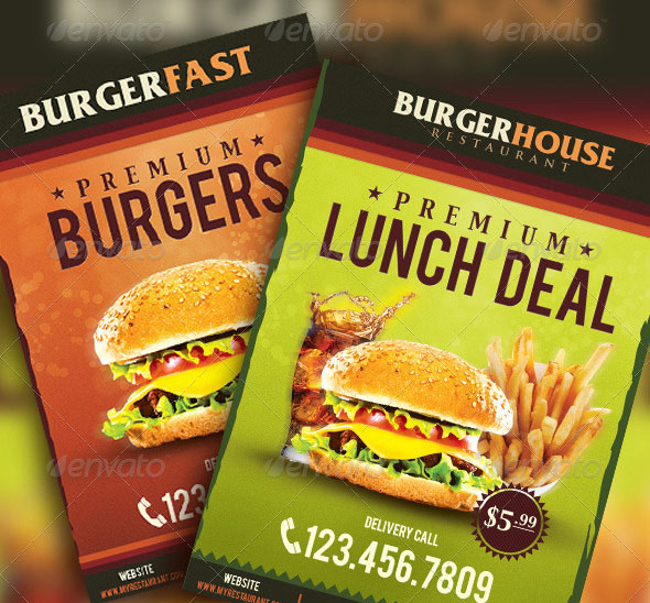 34 High Quality Fast Food Flyer Psd Templates Print Idesignow