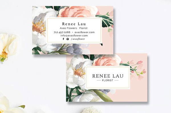FloralBusiness Card Template