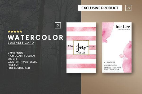 PersonalWatercolor Business Card
