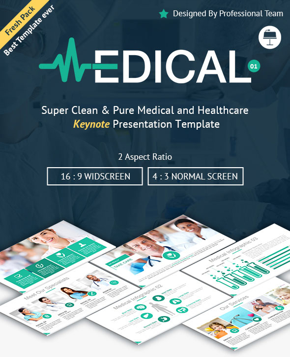 Medical and Healthcare Keynote Presentation Template