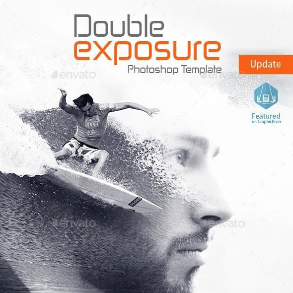 Double Exposure Photoshop Template