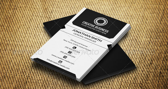 Black and White Business Card AN0344