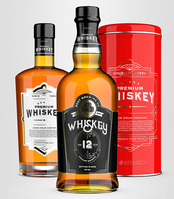 Whiskey Mockup Pack
