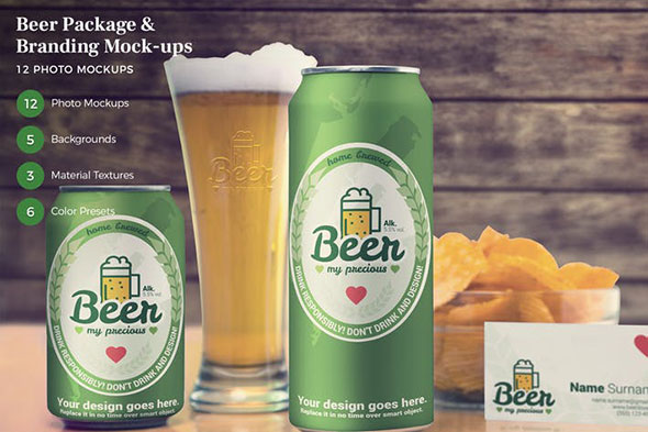 Beer Package & Branding Mock-ups