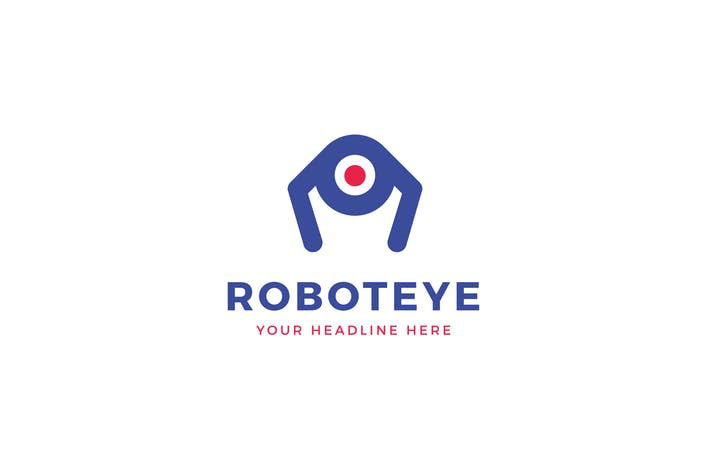 Robot Eye Logo Template