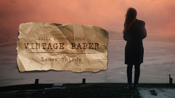 Vintage Paper Lower Thirds Pack