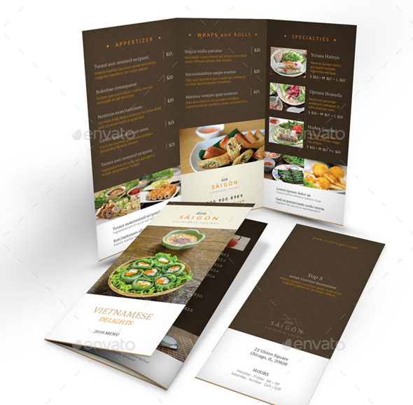 Vietnamese Restaurant Menu Print Bundle 2