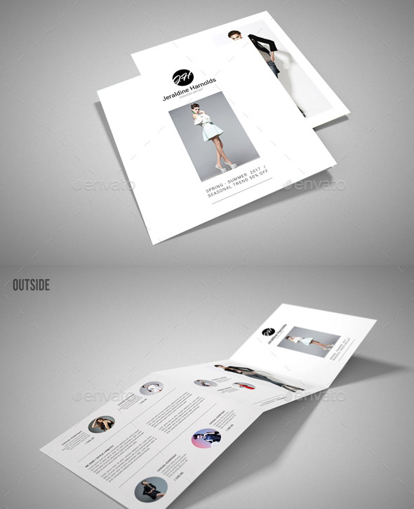 Square Tri-Fold Fashion Brochure 02