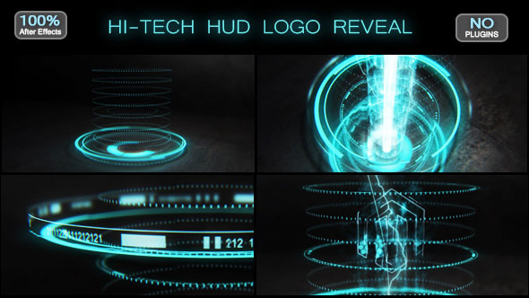 Hi-tech HUD Logo Reveal