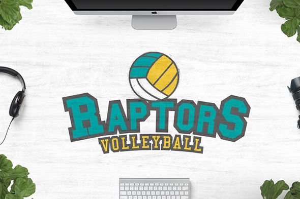 Raptors Volleyball Logo