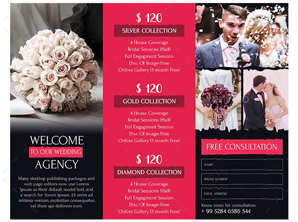 32 best brochure templates for wedding photographer for Wedding photography brochure template