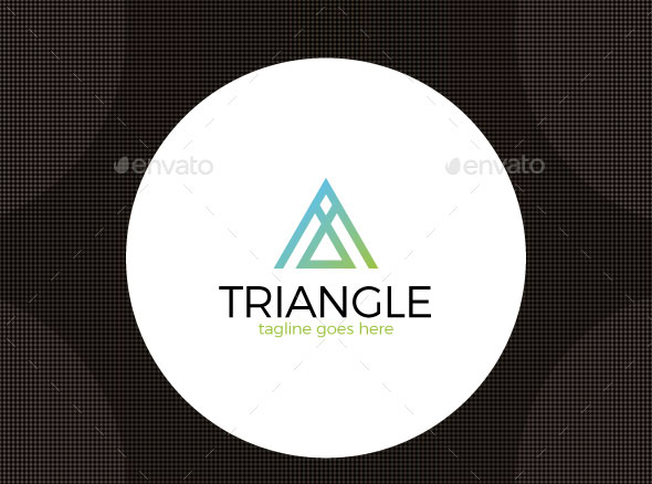 Triangle Letter A Logo