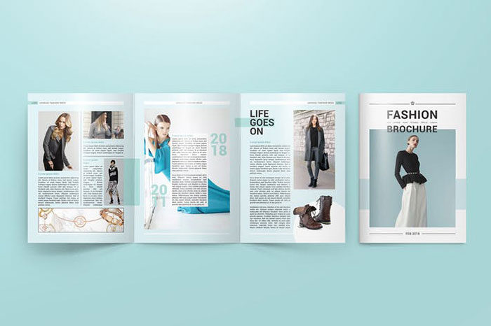 A4 Trifold Brochure Mockups