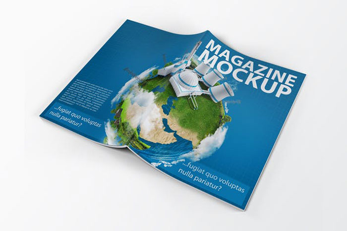 A4 Magazine Catalog Mock-Up