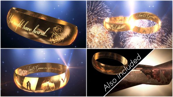 Wedding Ring Invitation - E3D