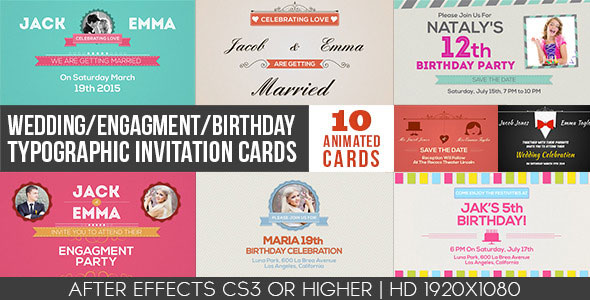 Wedding/Engagement/Birthday invitation cards