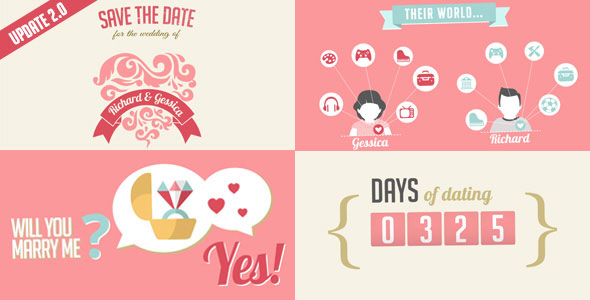 The Two Of Us Love Story Timeline & Save The Date