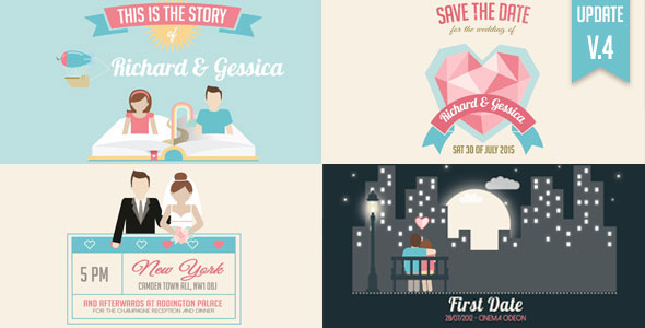 Wedding Invitation And Love Story Slideshow
