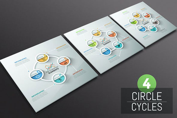 4 Circle Cycles Infographics