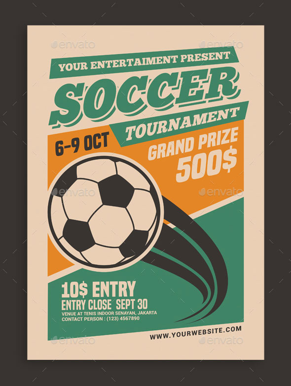26 Awesome Soccer Flyer Templates 2018 Print Idesignow