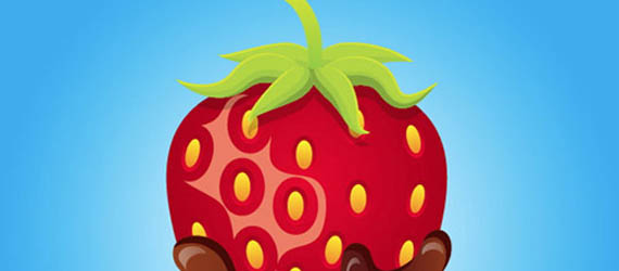 Create A Mouthwatering Chocolate Covered Strawberry Adobe Illustrator tutorial