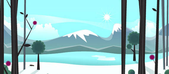 Smoothly Shift Winter Colors, While Creating an Icy, Vector Landscape Adobe Illustrator tutorial
