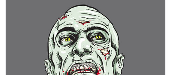 Create A Grisly Zombie Illustration With A Pen Tablet Adobe Illustrator tutorial