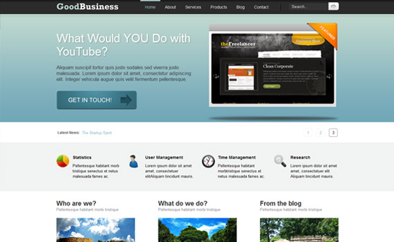 business wordpress theme