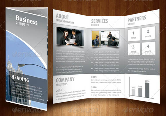 Corporate Business Blue Tri-Fold Brochure_22