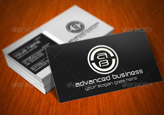 Dark Advanced Company Business Cards_49