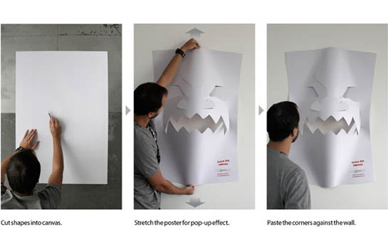 blank canvas poster