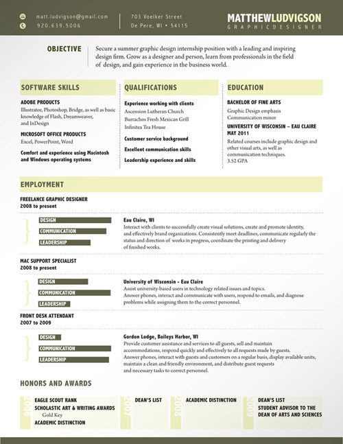 Matt Ludvigson Resume Design