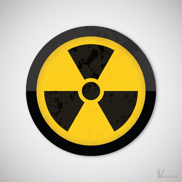 Grungy Nuclear Warning Symbol