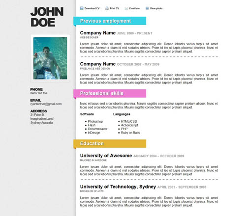 Awesome Online Resume_3