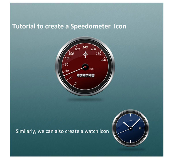 Create a Speed Gauge and Watch Icon in Photoshop