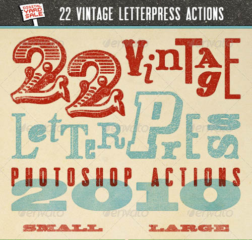 22 Vintage Letterpress Photoshop Actions_2