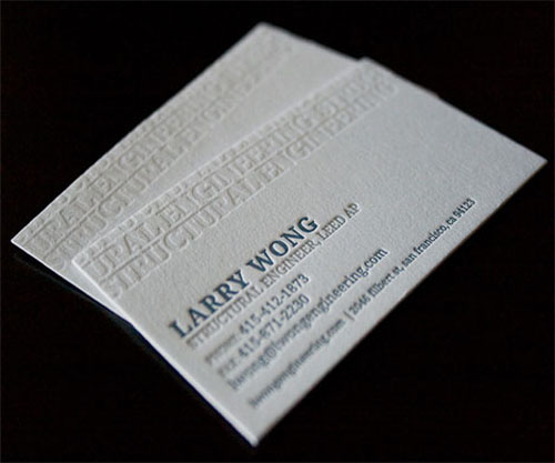 Letterpress Structural Engineer Business Card_15