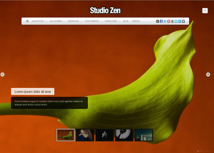 Studio Zen Fullscreen Portfolio WordPress Theme_3