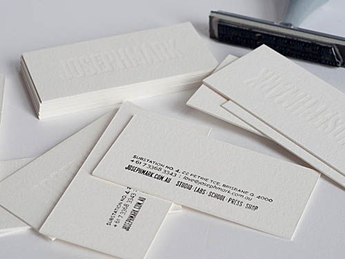 White on white letterpress business cards_7